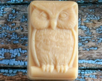 Owl Soap, Owl Goat's Milk Soap, Scented Owl Soap, Gift Soap, Scented Soap, Made in Montana Soap, Happy Goat Soap