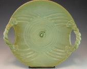Pottery Cheese and Cracker Platter/Cheese Tray/Platter for fruit and cheese/Serving Platter