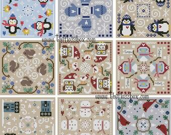 Winter Biscornu Cross Stitch Pack