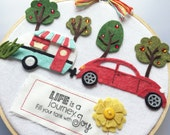 Fill Your Tank With Joy - Felt Hoop Art