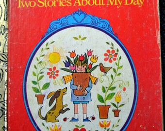Vintage Children's Book I Think About God Two Stories About My Day Little Golden Book Get 5 Books for 10 dollars