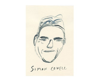 Original Portrait || SIMON COWELL || 100failedfamousfaces