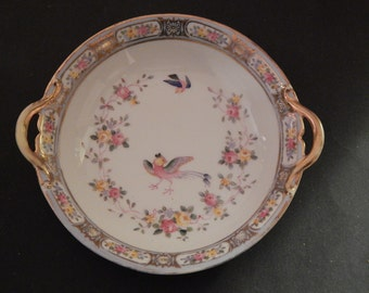 Vintage Nippon Bowl - Birds & Flowers