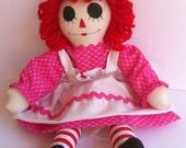 Valentine Raggedy Ann Doll Handmade