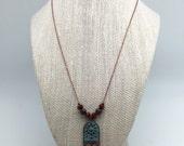 Antique Patina Copper Necklace