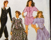 Vintage Sewing Pattern Simplicity 7616 Misses' Dress and Jumpsuit in size 18-24, bust 40-46 inches UNCUT Complete