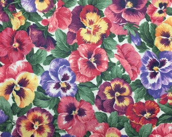 Pansy fabric - 1 1/4 yards x 42 inches