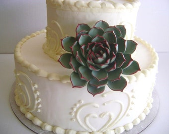 Succulent Cake Topper Clay Flower Cake Topper Clay Wedding Cake Decor Wedding Cake Topper Flower
