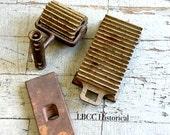 Antique Fluter: 3 Piece CAST IRON FLUTER Tool Pleating Shepard Hardware 1866-1900