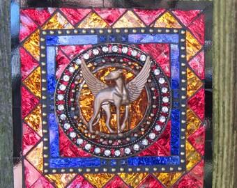 Mixed Media Angel Greyhound Wall Art