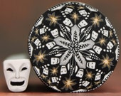 Set of 2- Polymer Clay Kaleidoscope and Mini Cane -'Drama Queen' (37bb)