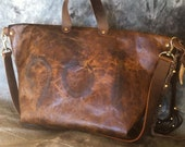 Distressed Cowhide Leather Satchel Number 901 Brand  by Stacy Leigh