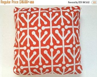 ENDING SOON OUTDOOR Aruba Orange, Decorative Throw Pillow Cover -Choose Size - Outdoor Aruba Orange 16 x 16-18x18-20x20-22x22-24x24-26x26 On