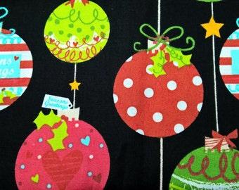 Christmas Baubles - fat quarter
