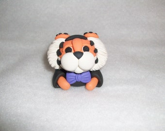 Peek A Boo Clemson Wedding Cake Topper Accessory