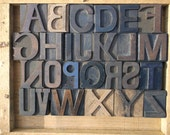 75% OFF with Coupon Code SUMMER - Letterpress - Crazy Beautiful Mixed Font Alphabet - 26 items - LOT 509