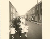 Vintage Antique  old French real photography black & white wedding