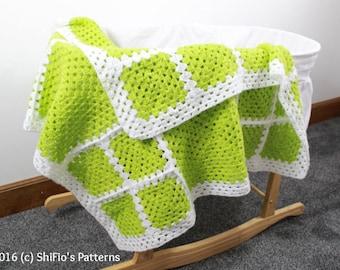 CROCHET PATTERN For Granny Square Afghan Crochet Pattern  PDF 342 Digital Download