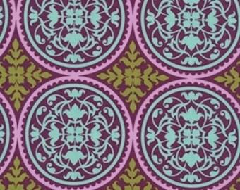 HALF YARD - Joel Dewberry Fabric - Aviary 2, Scrollwork in Lilac Purple - SALE