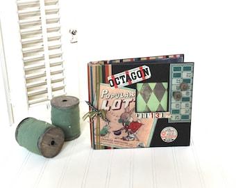 Vintage Scrapbook Album, Memories Book, Photo Album