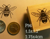 P96 Bee rubber stamp smaller