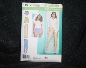 New, Uncut Simplicity 1165 Misses' Size 6 to 14 Misses',Pants, Shorts Sewing Pattern SEWBUSY12