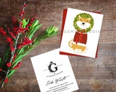 Shiba Inu dog Winter Wreath Holiday Card set greeting cards by Stephen Fowler 12 pack