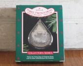 Vintage Christmas Ornament - Hallmark Christmas Ornament- Three French Hens -  1986