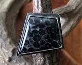 OOAK - Oolite, Sterling Silver - Ring