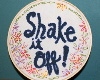 Shake It Off Needlework Sampler
