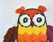 Owl Vintage Crewel Kit - NIP - 1970s