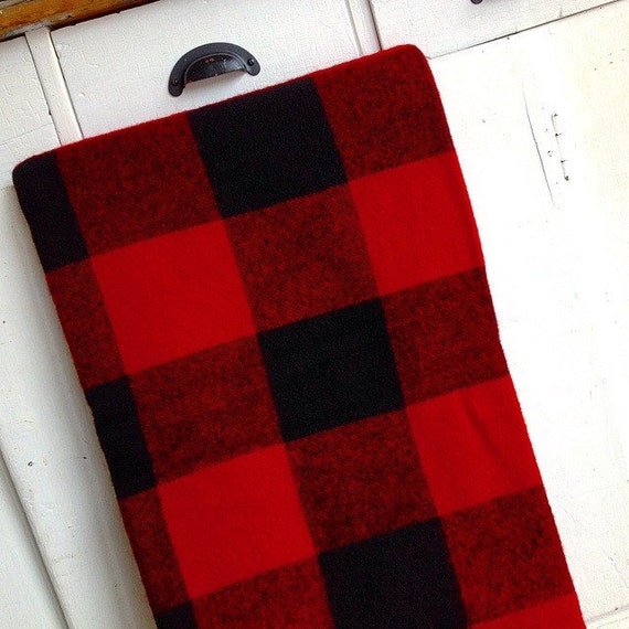 Cabin Cozy Vintage Pearce Woolrich Red And Black Buffalo