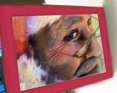 greeting card christmas santa claus smile
