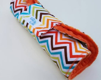 Rainbow Chevron Print Changing Pad Roll-Up (Gender Neutral)