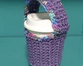 RESERVED LISTING for Lindsey S - Coffee Cup Sling Sleeve Cozy with Carrying Handle