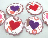 Felt Heart Tags\/Embellishments - Set of 6