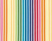 Remix fabric, Back to School fabric, Rainbow fabric, Stripe fabric, Ann Kelle by Robert Kaufman, Remix Stripe in Bright, Choose the Cut