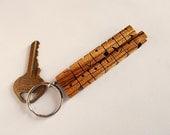 Zebrano Wood 2-Liner Keyc...