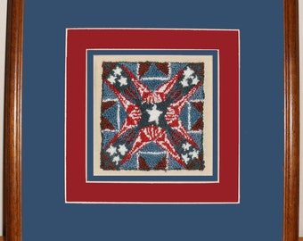 Punch Needle Pattern - Antique Flag - Instant Download