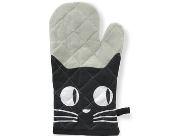 Big Eyes Cat Oven Mitt
