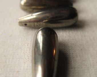Gemstone Teardrop Pyrite Briolette Item No. 2712