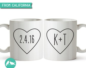 Couple Mugs, His and Hers Mug, Wedding Mugs, Anniversary Gift, Engagement Gift, Wedding Gift for Couple, His and Hers Gift, Valentines 62