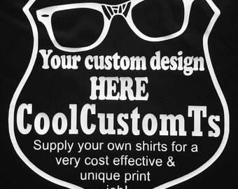 11 - 40 Original Emblems: Custom designed & printed specifically for YOUR group!  T-Shirts, supplied by YOU!