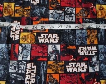 Starwars Blocks Squares Fabric - 2 yards
