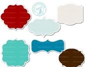 Digital labels - Set of 72 for invites, card making, digital scrapbooking - Xmas3