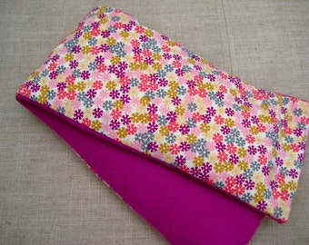 Therapy Rice Bag, Microwave Heat Pack, Rice Heating Pack, Therapy Sack, Tiny Flowers , Washable Cover,