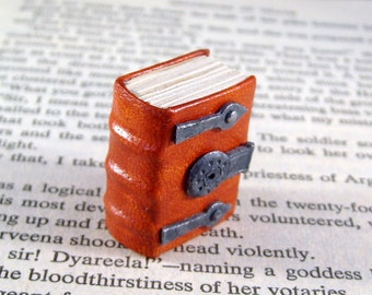Miniature Lock and Hinges Thick Book
