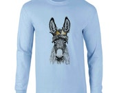 Long Sleeve T-shirt Donkey Crown Art Sizes S-2X