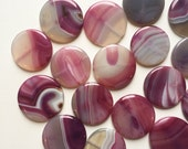 Purple Agate Focal Beads