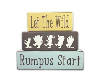 Wild Things Nursery - nursery decor - wild thing - wood blocks